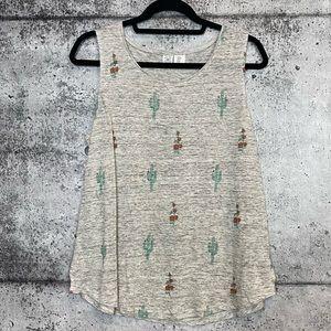 Artisan NY // Cactus Print 100% Linen Tank